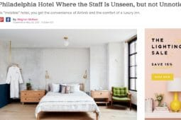 An article by Domino Mag - A Philadelphia Hotel where the staff is unseen but no unnoticed